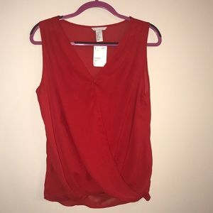 H&M NWT red blouse, sz 12.